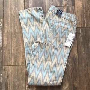 Bullhead Black Chevron skinniest jeans Jr Sz 13